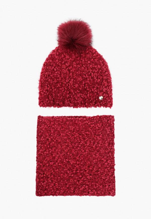женский шарф liu jo, бордовый