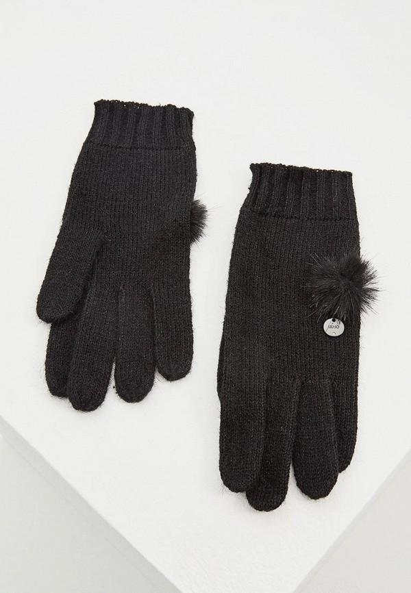 Купить Перчатки Liu Jo, li687dwbspe7, черный, Осень-зима 2018/2019