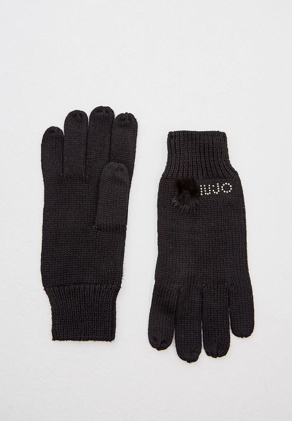 женские текстильные перчатки liu jo, черные