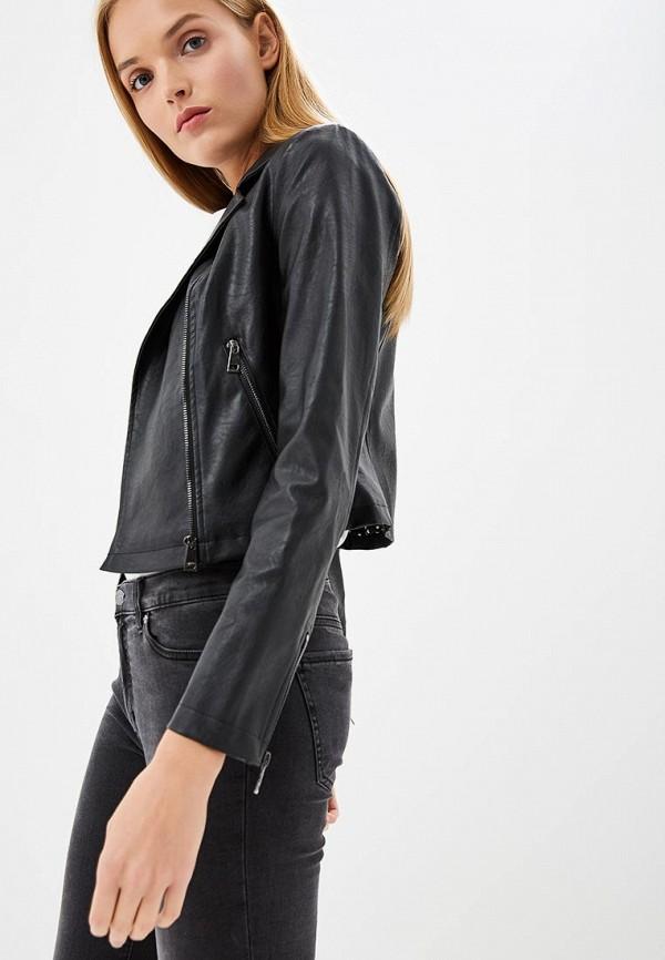 Купить Куртка кожаная Liu Jo, li687ewbspx9, черный, Осень-зима 2018/2019