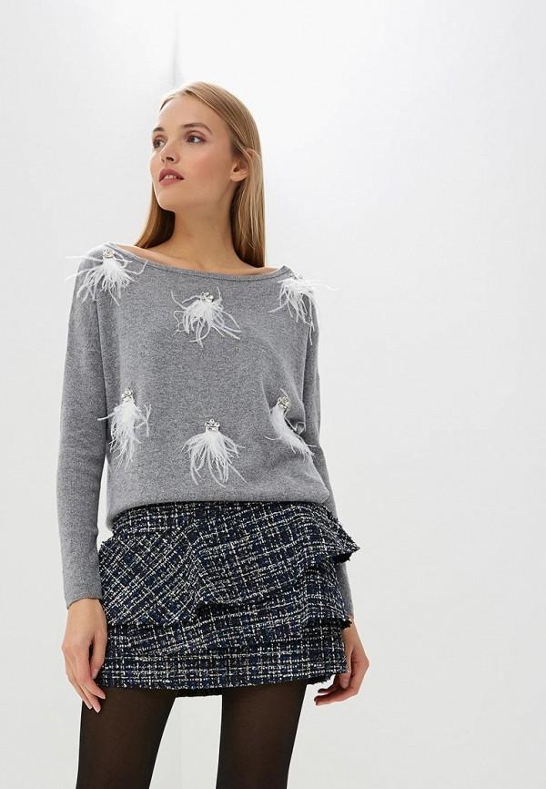 Купить Джемпер Liu Jo, li687ewbsqm8, серый, Осень-зима 2018/2019