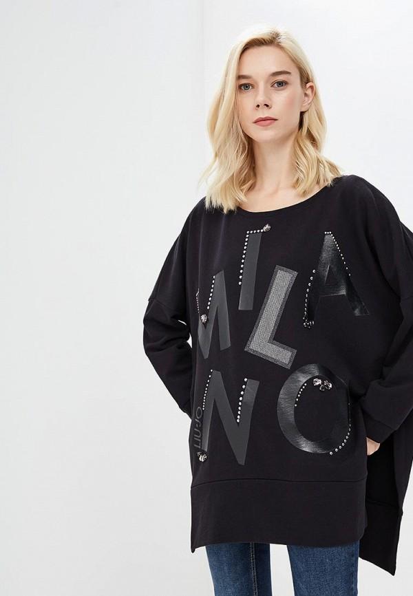Купить Свитшот Liu Jo, li687ewbsrb9, черный, Осень-зима 2018/2019