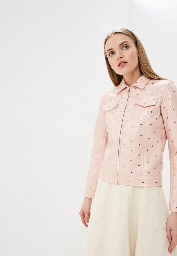 женская куртка liu jo, розовая