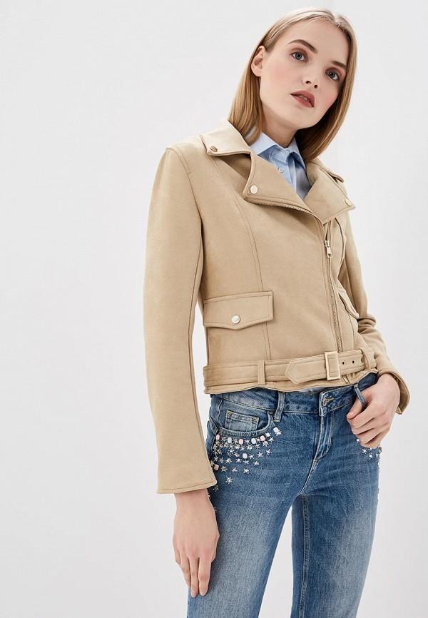женская куртка liu jo, бежевая