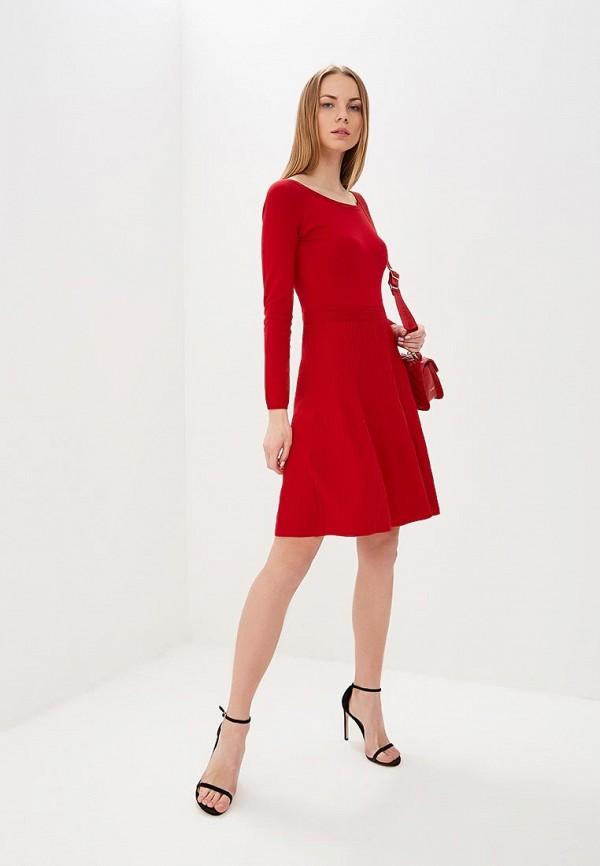 Фото 2 - женское повседневное платье Liu Jo красного цвета