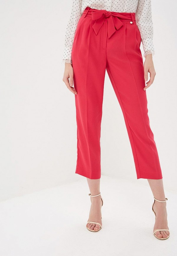 женские повседневные брюки liu jo, розовые