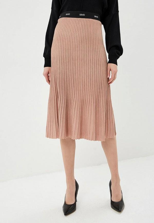 женская юбка liu jo, бежевая