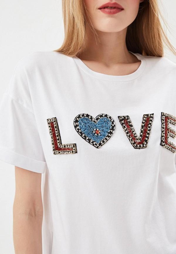 Фото 4 - женскую футболку Liu Jo белого цвета