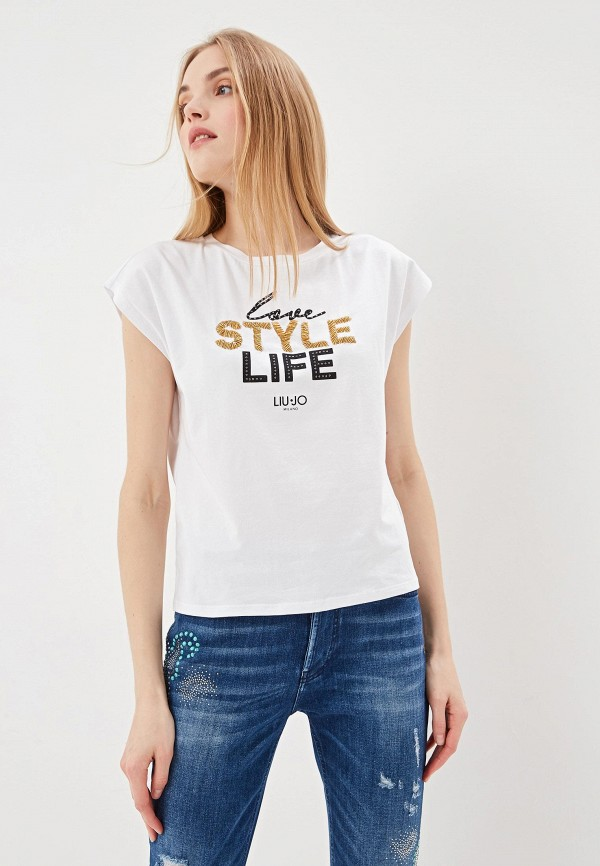 Фото - женскую футболку Liu Jo белого цвета