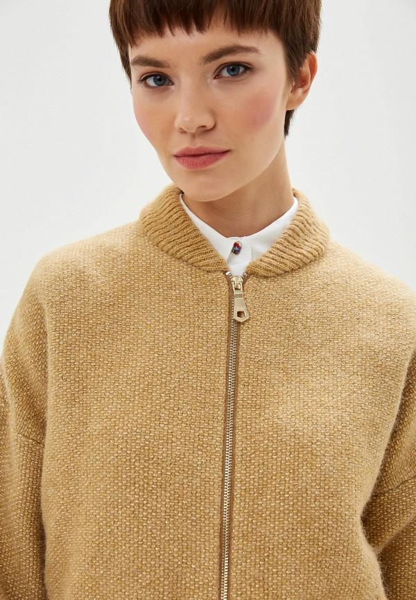 Фото 4 - женский кардиган Liu Jo золотого цвета