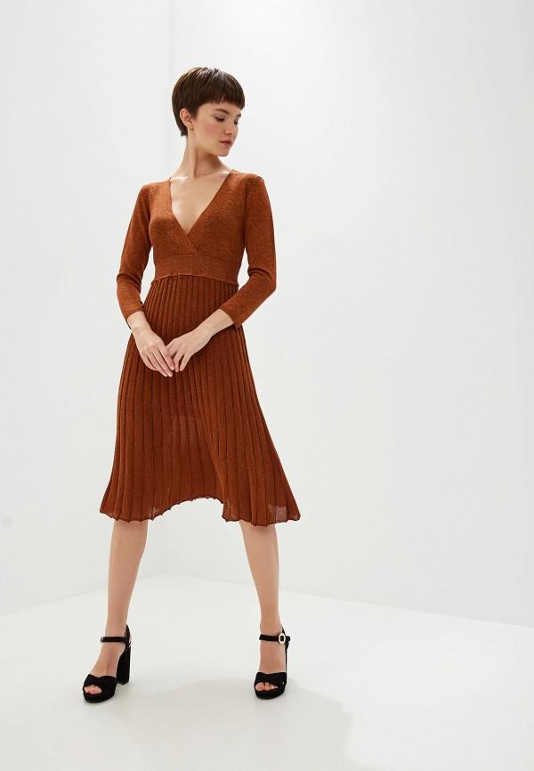 женское повседневные платье liu jo, оранжевое