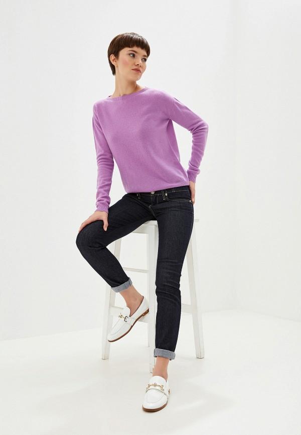 Фото 2 - женский джемпер Liu Jo фиолетового цвета
