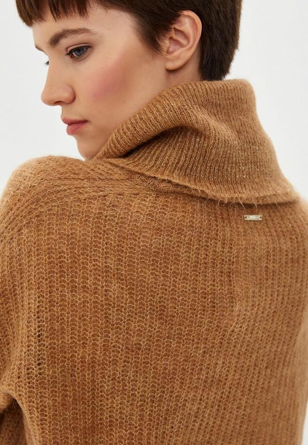 Фото 4 - женский свитер Liu Jo коричневого цвета