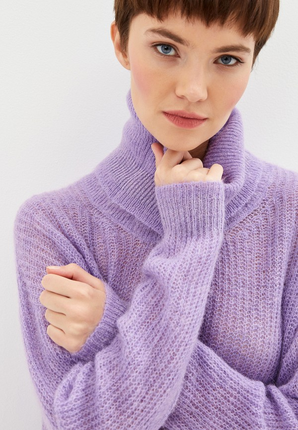 Фото 4 - женский свитер Liu Jo фиолетового цвета