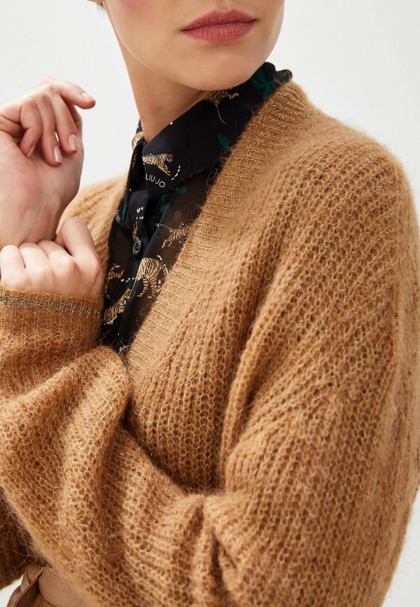 Фото 4 - женский кардиган Liu Jo коричневого цвета