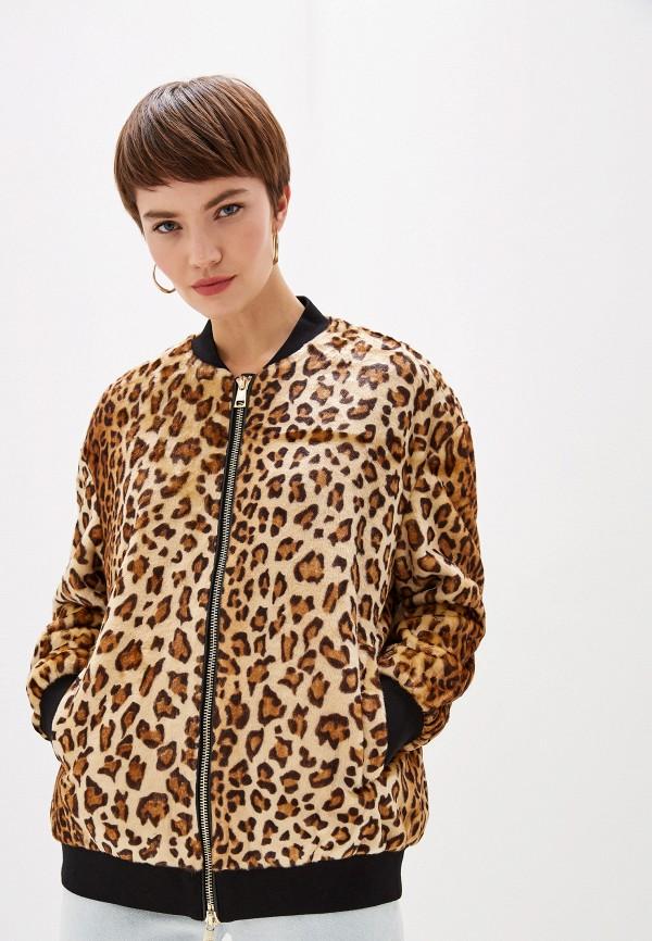 женская куртка liu jo, коричневая