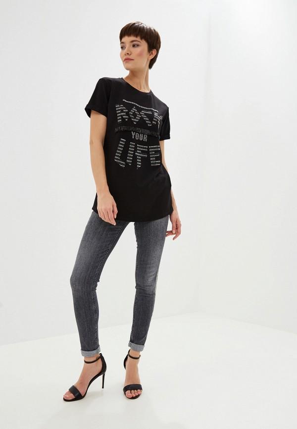 Фото 2 - женскую футболку Liu Jo черного цвета