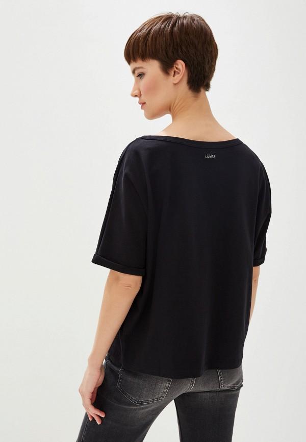 Фото 3 - женскую футболку Liu Jo черного цвета