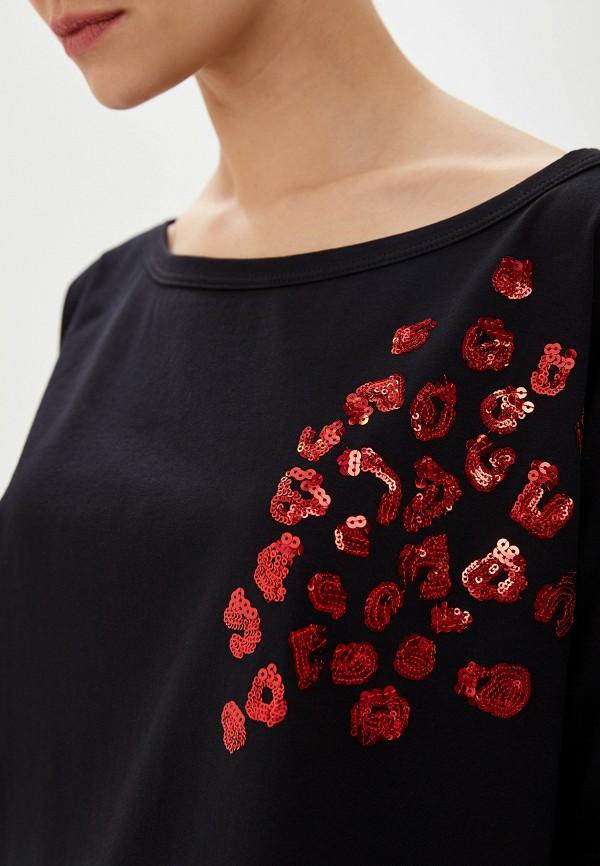 Фото 4 - женскую футболку Liu Jo черного цвета