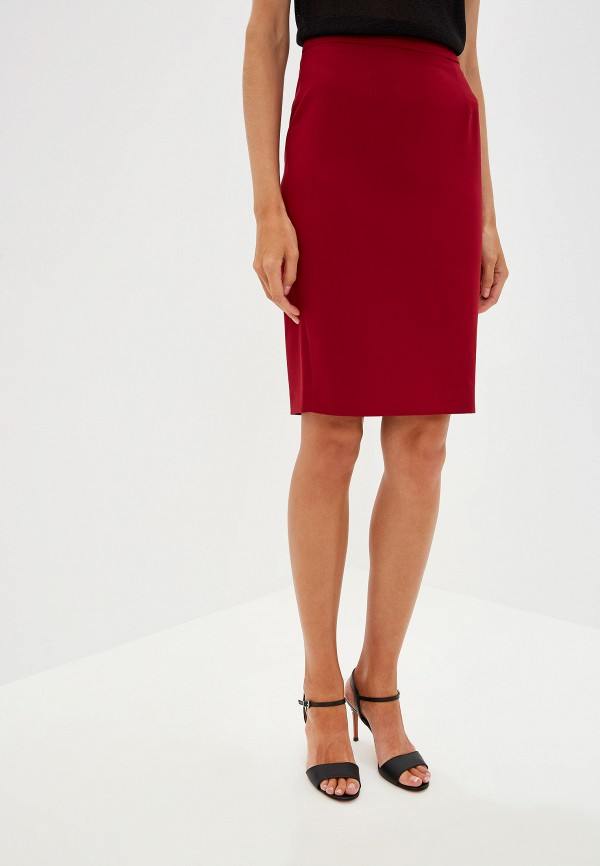 женская зауженные юбка liu jo, бордовая