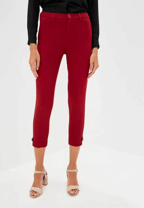 женские классические брюки liu jo, бордовые