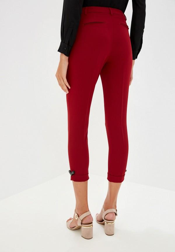 Фото 3 - женские брюки Liu Jo бордового цвета