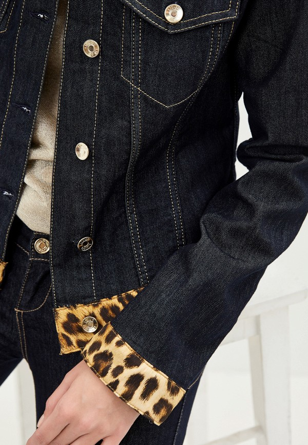Фото 4 - Куртку джинсовая Liu Jo синего цвета