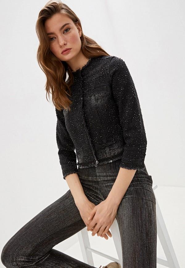 женская джинсовые куртка liu jo, черная