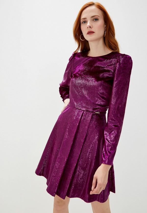женское вечерние платье liu jo, фиолетовое