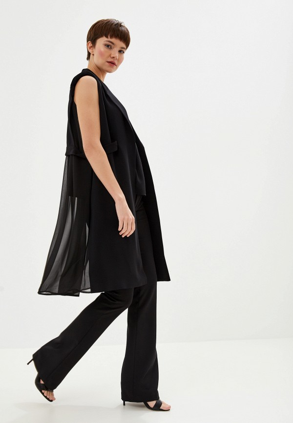 Фото 2 - женский жилет Liu Jo черного цвета