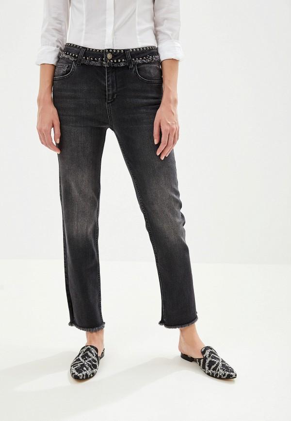 женские прямые джинсы liu jo, черные
