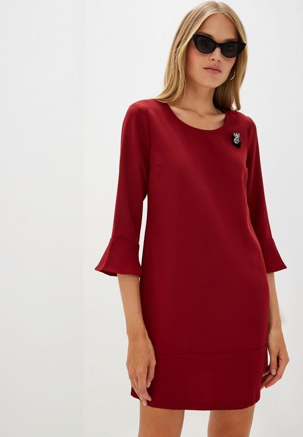 женское повседневные платье liu jo, бордовое