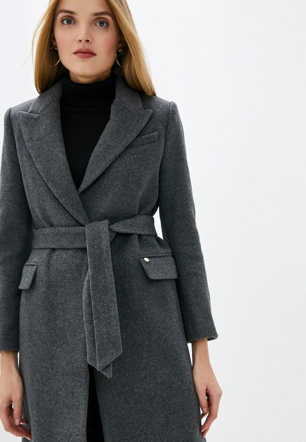 Фото 4 - женское пальто или плащ Liu Jo серого цвета