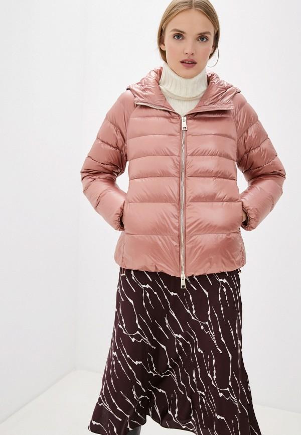 женский пуховик liu jo, розовый