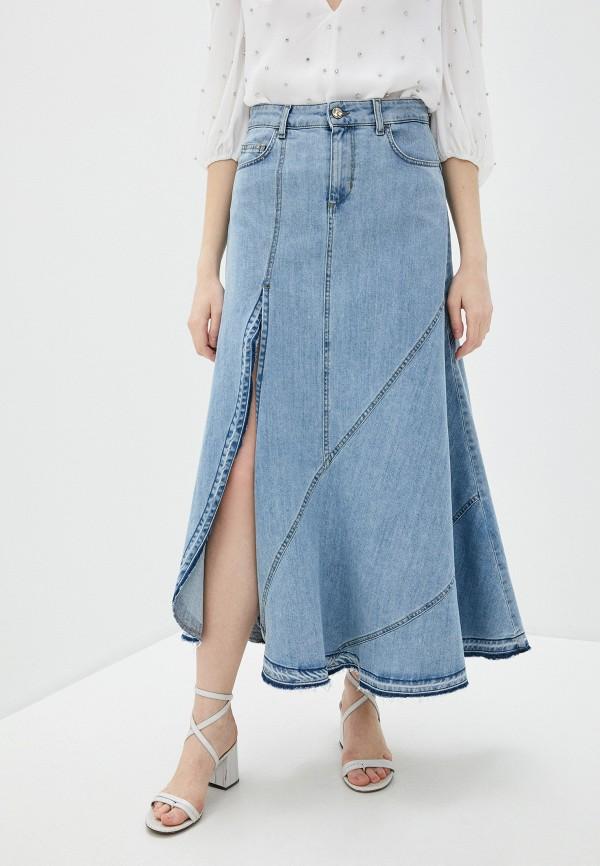 женская джинсовые юбка liu jo, голубая