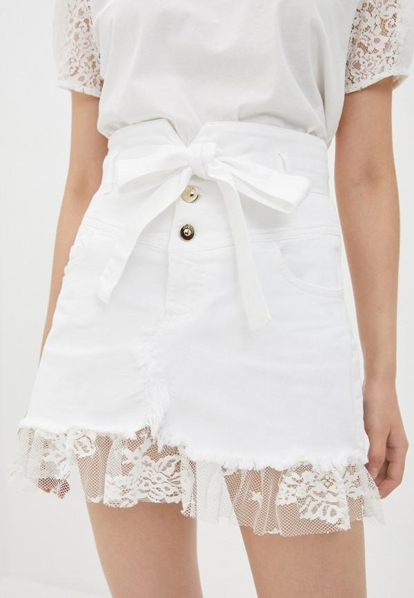 женская джинсовые юбка liu jo, белая