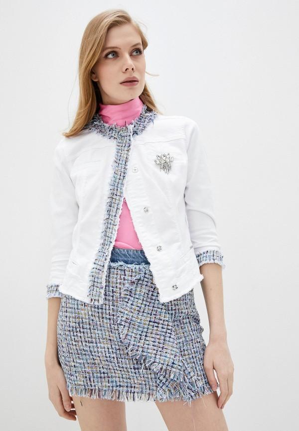женская джинсовые куртка liu jo, белая