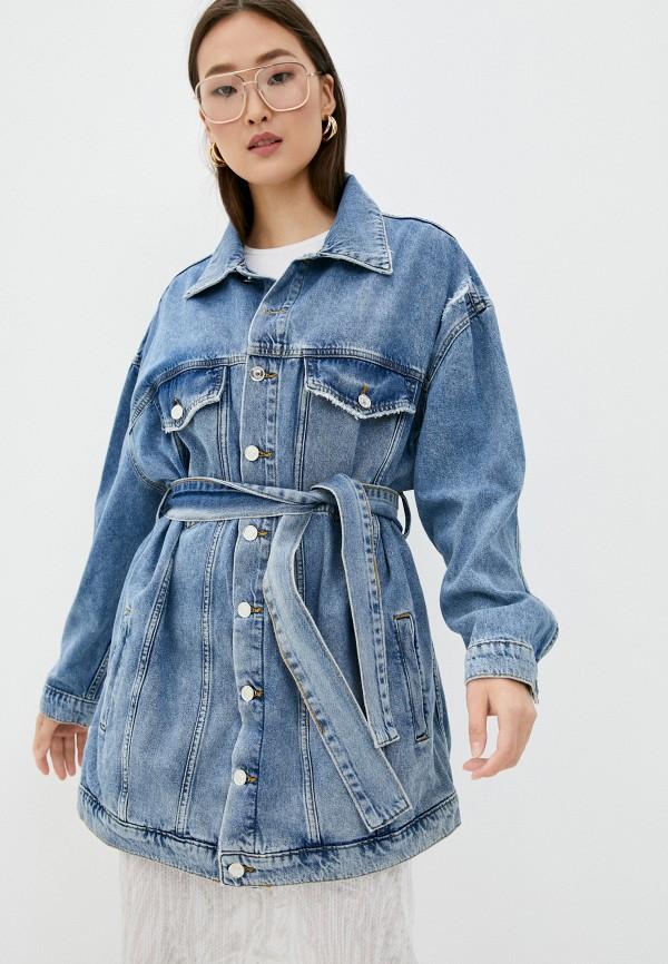 женская джинсовые куртка liu jo, голубая