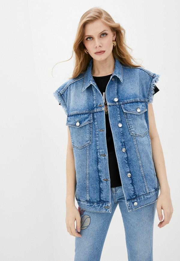 женский джинсовые жилет liu jo, синий