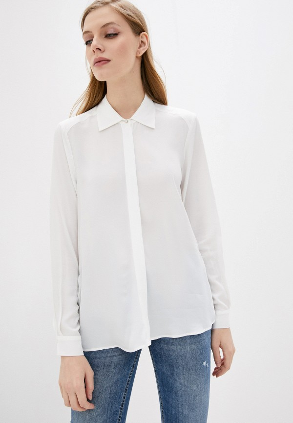 женская блузка с длинным рукавом liu jo, белая