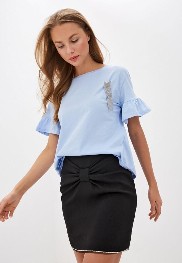 женская футболка liu jo, голубая