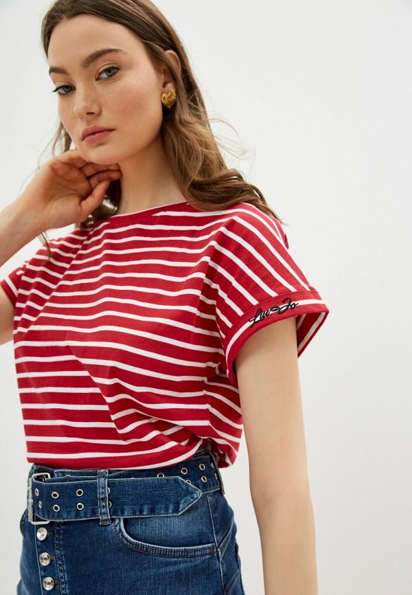 женская футболка liu jo, красная