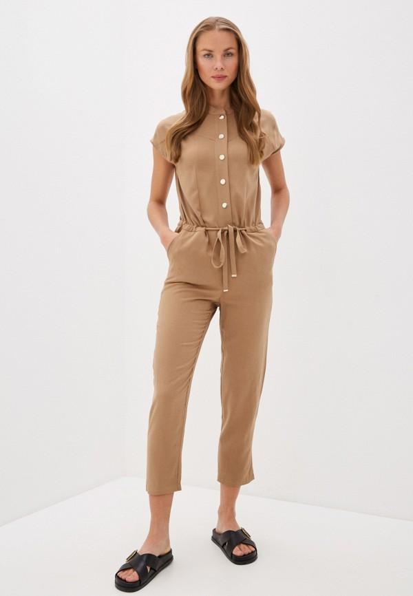 женский комбинезон с брюками liu jo, бежевый