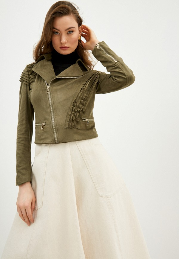 женская куртка liu jo, хаки
