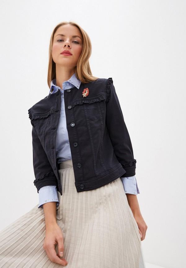 женская джинсовые куртка liu jo, синяя