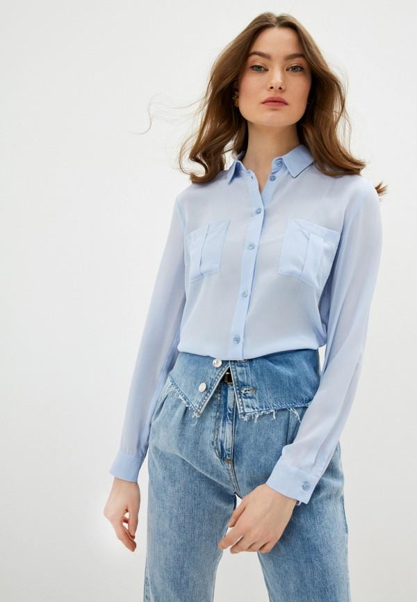 женская блузка liu jo, голубая