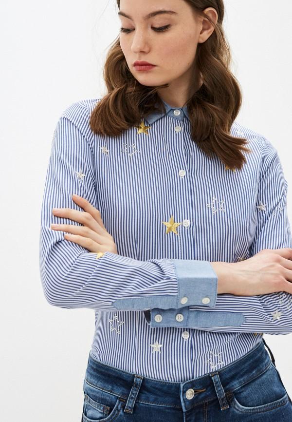 женская рубашка с длинным рукавом liu jo, синяя