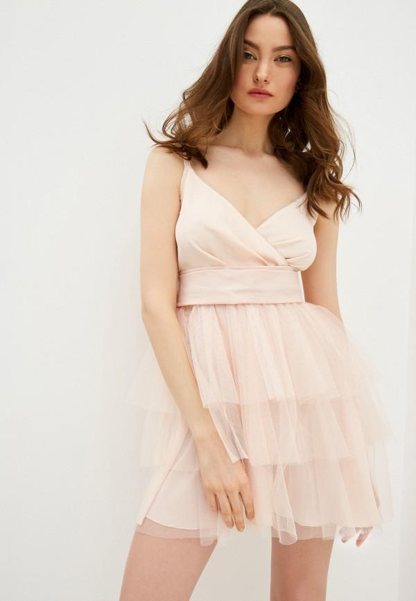 женское вечерние платье liu jo, розовое