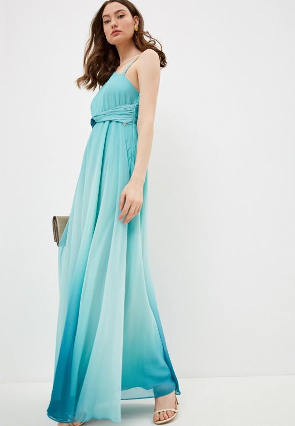 женское вечерние платье liu jo, зеленое