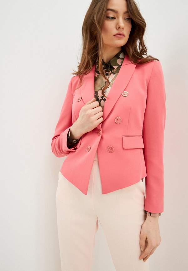 женский пиджак liu jo, розовый